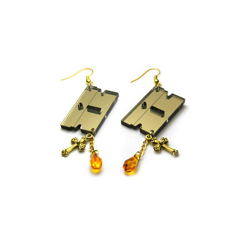 Hello Drama - Criminal Earrings, Gold