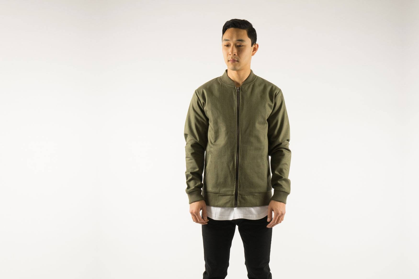 Akomplice VSOP- Cromwell Men's Bomber Jacket, Olive/Tan - The Giant Peach - 6