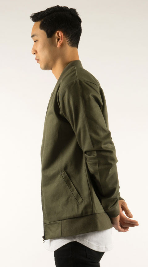 Akomplice VSOP- Cromwell Men's Bomber Jacket, Olive/Tan - The Giant Peach