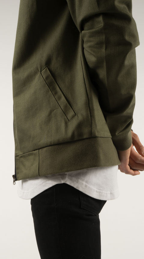 Akomplice VSOP- Cromwell Men's Bomber Jacket, Olive/Tan - The Giant Peach - 3