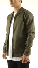 Akomplice VSOP- Cromwell Men's Bomber Jacket, Olive/Tan - The Giant Peach - 1
