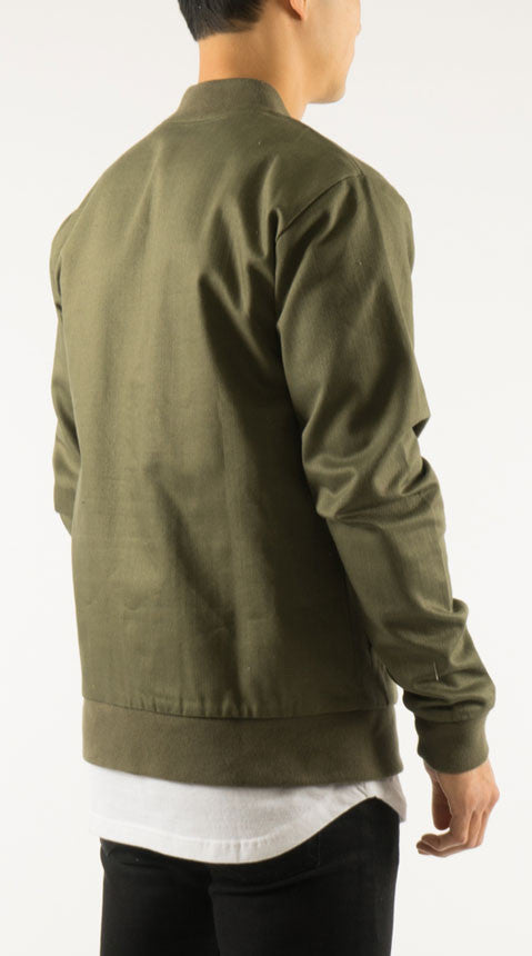 Akomplice VSOP- Cromwell Men's Bomber Jacket, Olive/Tan - The Giant Peach - 5