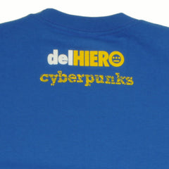 delHIERO - Cyberpunks Men's Shirt, Royal - The Giant Peach - 3
