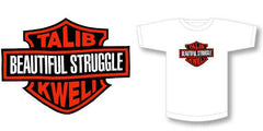 Spitkicker - Talib Kweli Beautiful Struggle Women's Logo Shirt, White - The Giant Peach