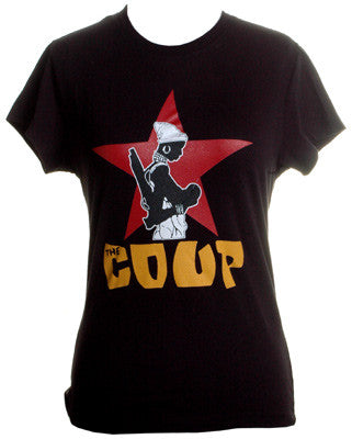 The Coup - Official Women's Boy Cut Shirt, Black - The Giant Peach