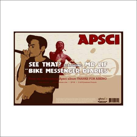 "Apsci - See That? Feat. Mr. Lif, 12"" Vinyl - The Giant Peach"