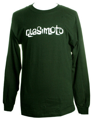 Quasimoto - Font Long-Sleeve Shirt, Forest Green - The Giant Peach