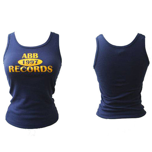 ABB Records - Logo Women's Tank Top, Navy - The Giant Peach