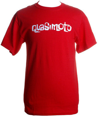 Quasimoto - Font Men's Shirt, Red - The Giant Peach