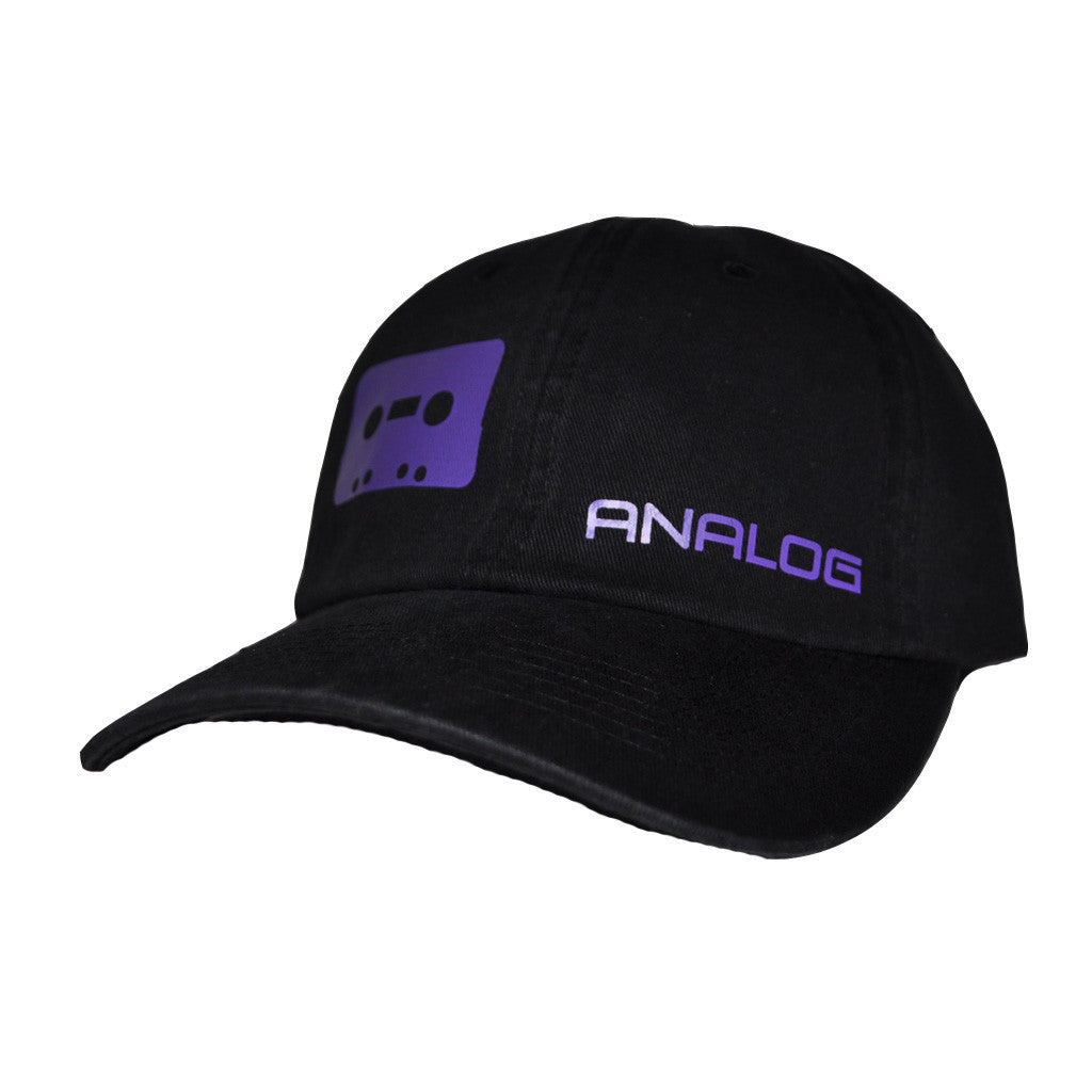 Not Digital Dad Hat, Black with Purple - The Giant Peach