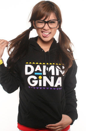 Adapt - Damn Gina  Women's Hoodie, Black - The Giant Peach