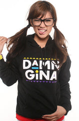 Adapt - Damn Gina  Women's Hoodie, Black - The Giant Peach - 1