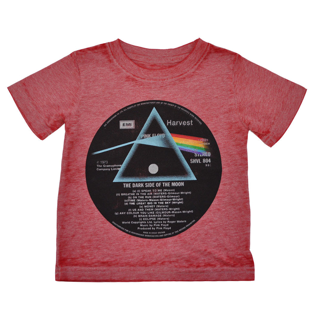 Pink Floyd - The Dark Side Vinyl Infant/Toddler Tee, Heather Red - The Giant Peach