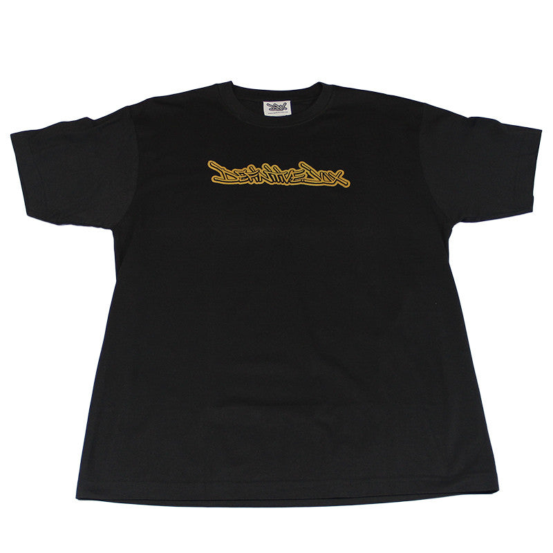 Definitive Jux - Handstyle Men's Shirt, Black/Gold - The Giant Peach