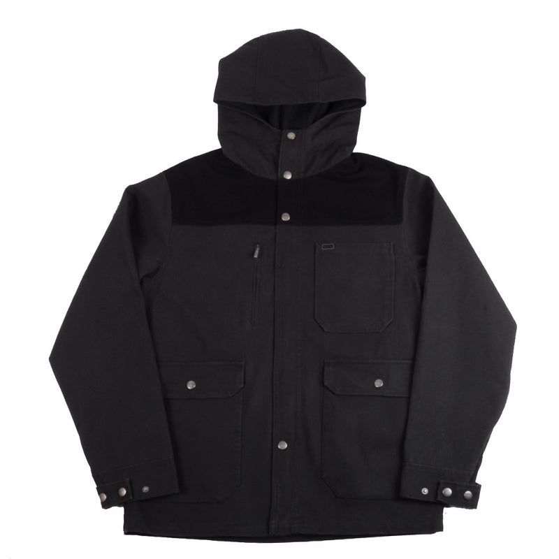 Brixton - Defender Men's Jacket, Black/ Black - The Giant Peach