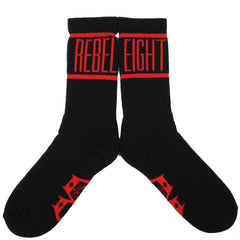 Rebel8 - Degenerate Socks, Black and Red - The Giant Peach