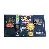 Pintrill x Del The Funky Homosapien  No Need For Alarm Limited 4 Pin Set