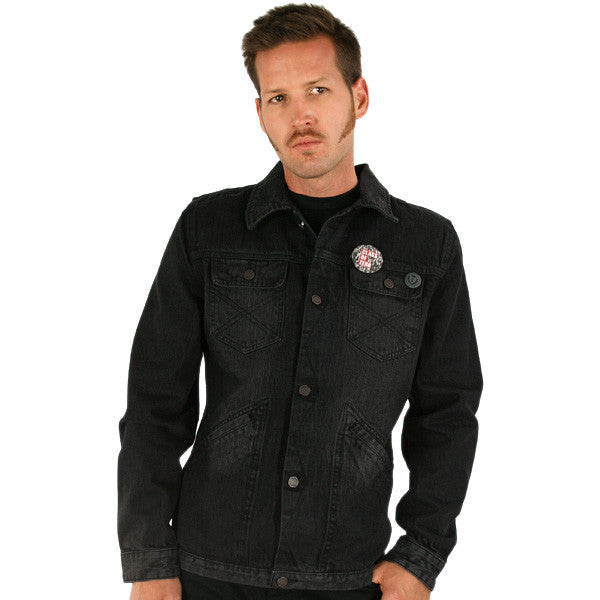 Insight - Modern Lover Men's Denim Jacket, Black - The Giant Peach