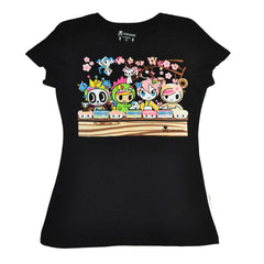 tokidoki - Densha Women's Tee, Black - The Giant Peach - 1