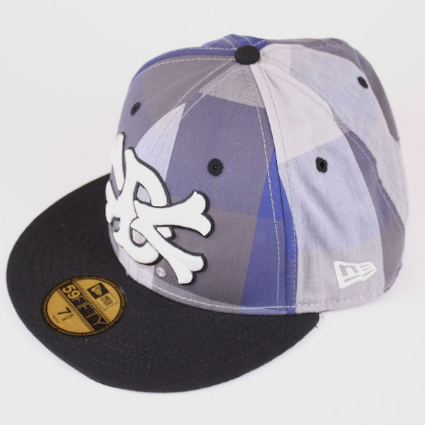 Dissizit! - Dx11 Large Gingham New Era Fitted Hat, Blue/Black Gingham - The Giant Peach