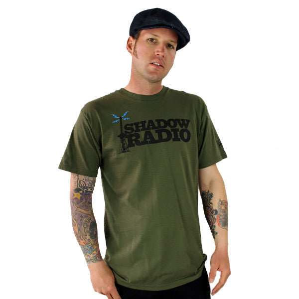 DJ Shadow - Radio Tower Men's Shirt, Army Green - The Giant Peach