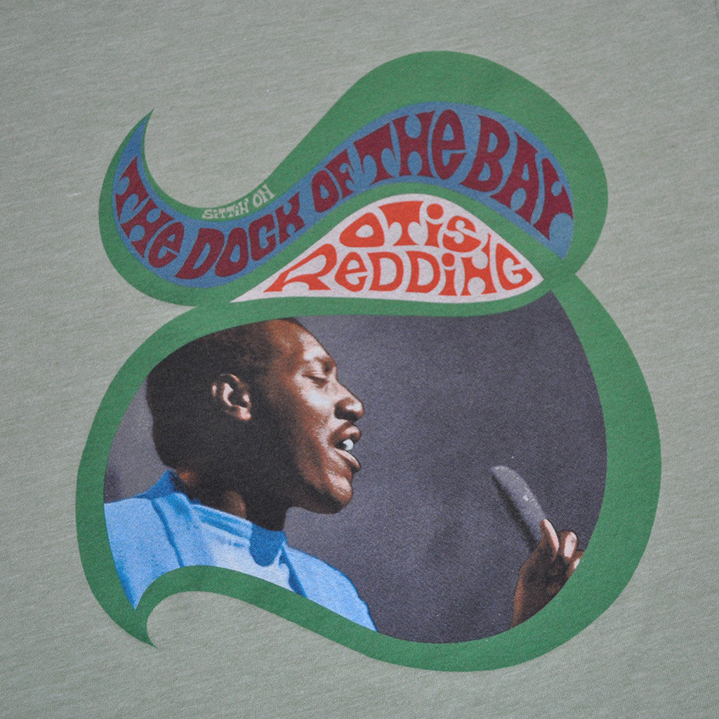 Otis Redding - Sittin' On Men's Shirt, Heather Green - The Giant Peach - 2