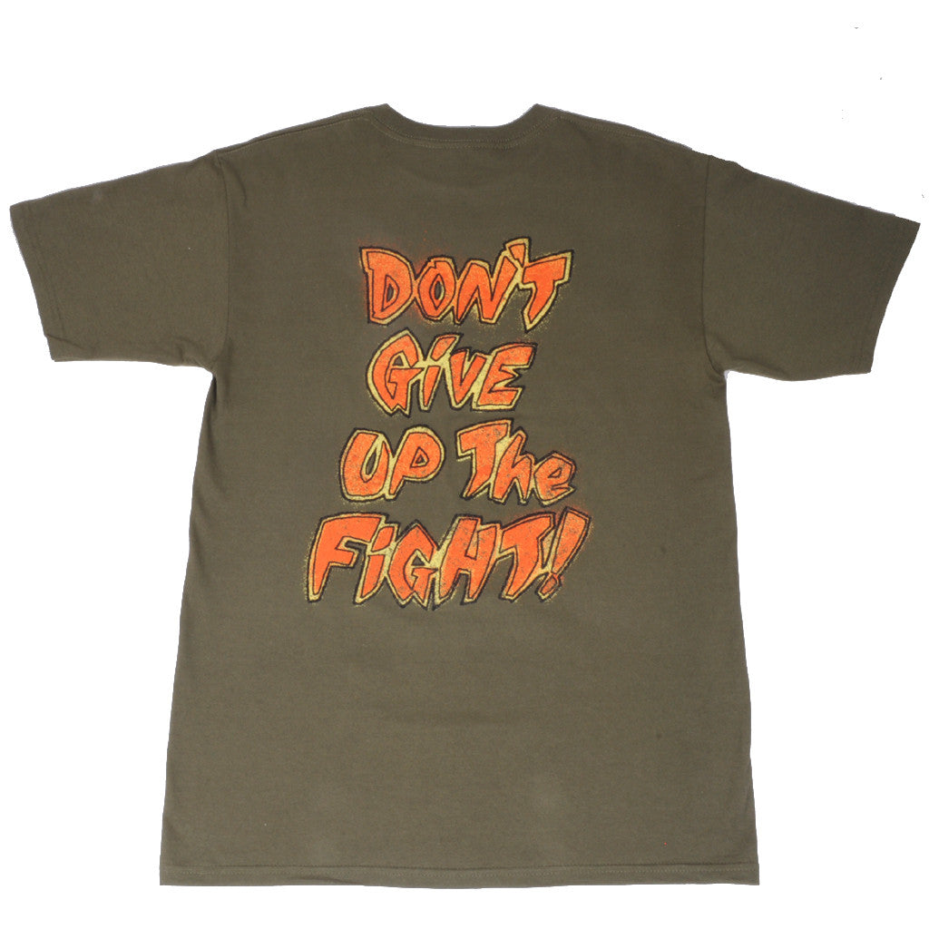 OBEY - Don't Give Up The Fight Men's Tee, Olive - The Giant Peach - 2