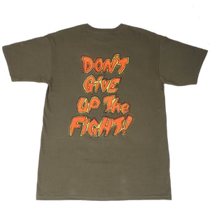 OBEY - Don't Give Up The Fight Men's Tee, Olive - The Giant Peach