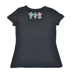 tokidoki - Donut Emoji Women's Tee, Dark Heather Grey - The Giant Peach