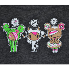 tokidoki - Donut Emoji Women's Tee, Dark Heather Grey