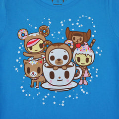 tokidoki - Donut Bear Women's Tee, Blue - The Giant Peach