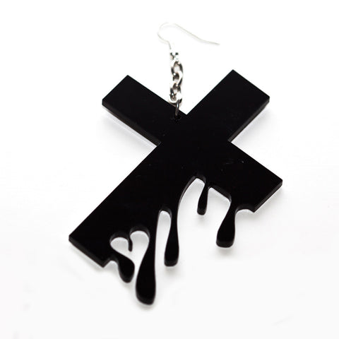 Hello Drama - Drip Drop 1 Single Earring, Black