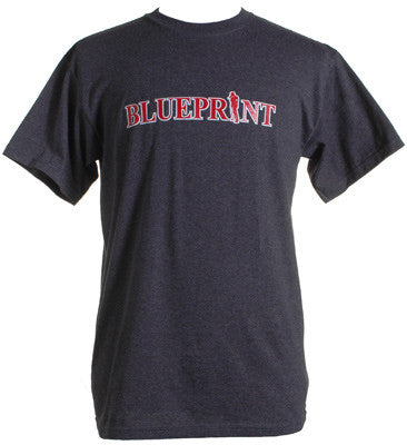 Blueprint - Logo Men's Shirt, Heather Charcoal - The Giant Peach