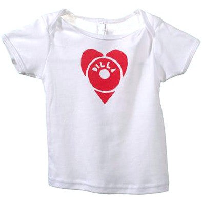 J Dilla - Dilla Heart Infant Shirt, White - The Giant Peach