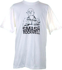 Casual - Smash Rockwell Men's Shirt, White - The Giant Peach