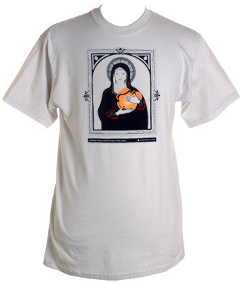 Giant Peach Virgin Mary Men's Shirt, Silver - The Giant Peach