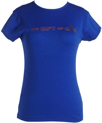 Gift of Gab - Logo Women's Shirt, Royal Blue - The Giant Peach