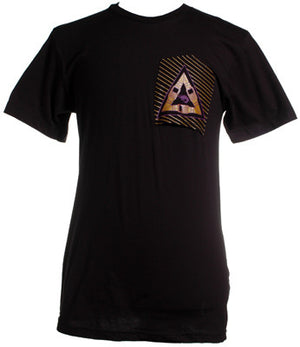 Free Gold Watch - Pyramid Dream Men's Shirt, Black - The Giant Peach