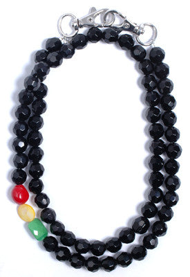Trixy - Rasta Facet Necklace, Black - The Giant Peach