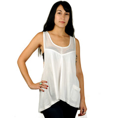 Eden by Element - Lily Women's Tank Top, White - The Giant Peach - 1