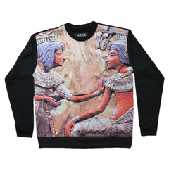 L.A.T.H.C. - Egyptian Gods Men's Crewneck Fleece Sweatshirt, Black - The Giant Peach