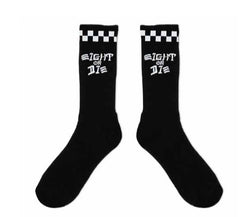 REBEL8 - Eight Or Die Socks, Black - The Giant Peach