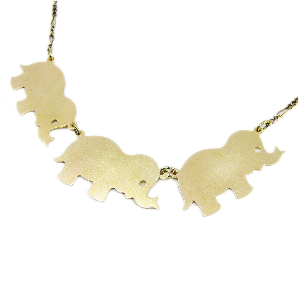 Ornamental Things - Elephants on Parade Necklace - The Giant Peach