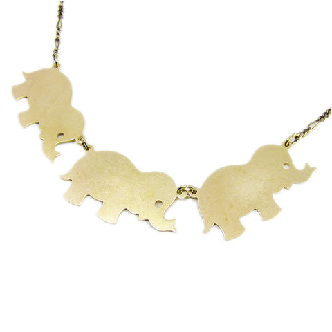 Ornamental Things - Elephants on Parade Necklace