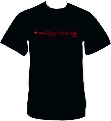 El-P - I'll Sleep When You're Dead Men's Shirt, Black