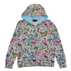 tokidoki - Emoji Kitty Women's Hoodie, Light Heather Grey