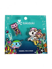 tokidoki - Sea Punk Enamel Pin 3-Pack - The Giant Peach