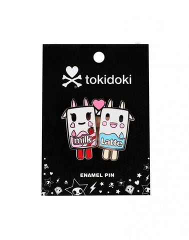 tokidoki - Strawberry Milk & Latte Enamel Pin