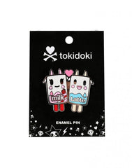 tokidoki - Strawberry Milk & Latte Enamel Pin - The Giant Peach