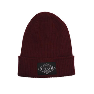TRUE - Establishd Basic Beanie, Burgundy